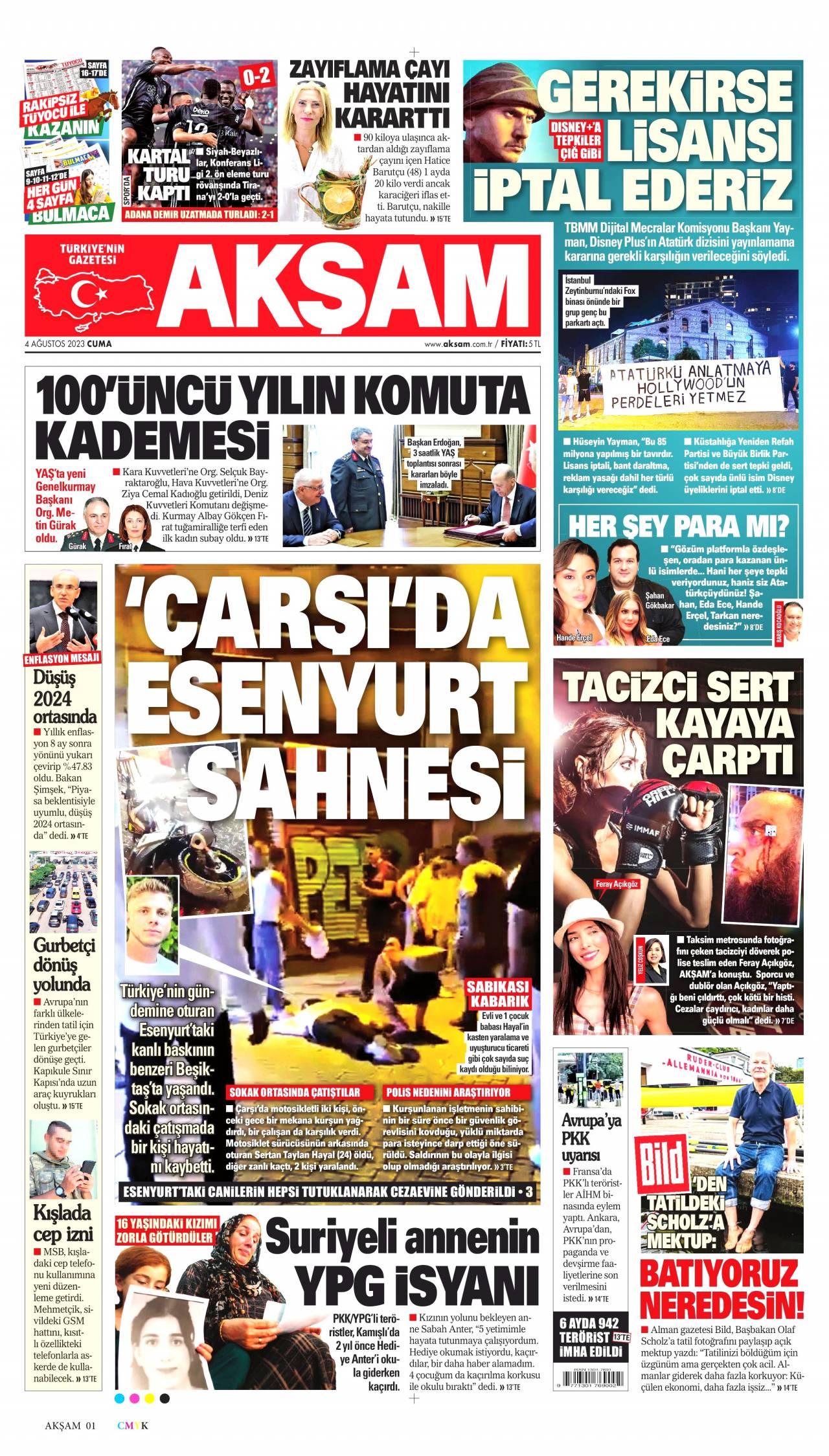 gazeteniz aksam manşetleri